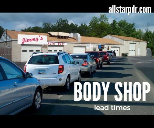 body shop lead times